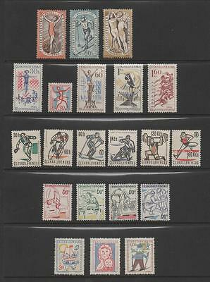 Czechoslovakia Stamps. 5 Lovely Unmounted Mint Sets.