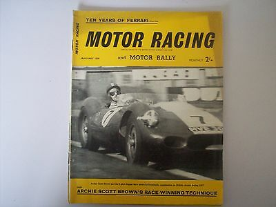 Motor Racing And Motor Rally Magazine From January 1958