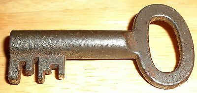 Vtg German Skeleton Barrel Key Complex Bit Jail Old Antique Rare Find