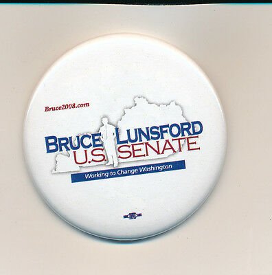 """Kentucky Ky Bruce Lunsford for the U.S. Senate 2 1/4"""" campaign button"""