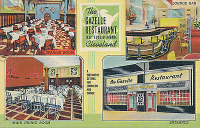 Unmailed linen Gazelle Restaurant Cleveland, Ohio OH multiview