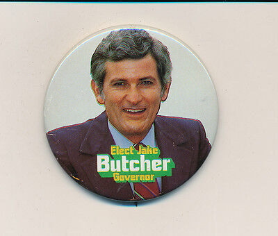 """1978 Jake Butcher governor 2 1/4"""" litho Tennessee TN campaign button"""