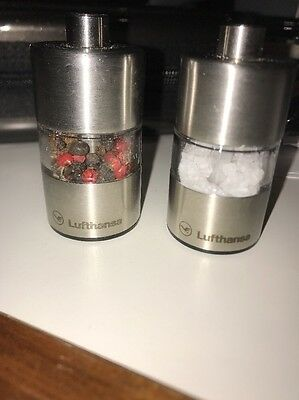 Lufthansa First Class Salt And Pepper Shakers/grinders