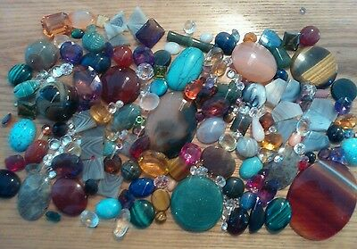 Large Job Lot Of Gemstones Etc For Jewellery