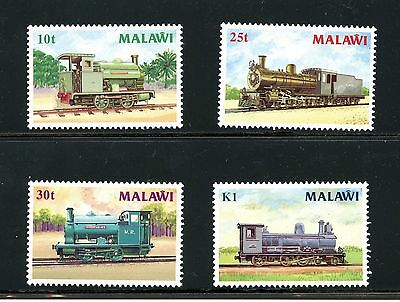 Malawi #498-501 (MA656) Complete British Stream Locomotives, MNH, FVF,CV$21.75