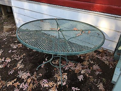Old Large Round Wrought Iron Outdoor Table! Pu In Pa Only!