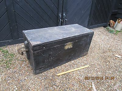 Antique Shipwright's Chest /Pine Trunk / Antique Pine Chest  - Coffee Table.