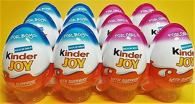 12 PCS Kinder Joy Surprise Egg,6*BOYS/6*GIRLS Kinder Joy Chocolate Gift Toy