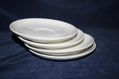 4 Vintage USA Russel Wright Iroquois Casual White Saucers