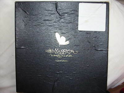"""The Mission Butterfly On A Wheel Uk 10"""" Box Set +Poster 1989 Ltd. Ed. Numbered"""