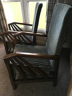 Fantastic Pair Of Art Deco Recliner Chairs Arm Chairs
