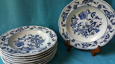 Blue Danube BLUE ONION Rimmed Soup Bowl ~ US Pat. Banner Mark ~ 8 Available