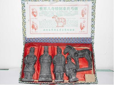 Exquisite handmade Chinese Qin Dynasty Terracotta Warriors 5 PC