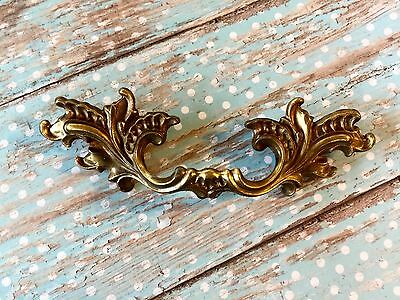 "Vintage French Ornate Furniture Pull Holes 2 1/2"" Apart SOLID"
