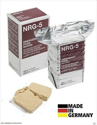 NRG Emergency Food Rations - Survival Camping Biscuits Military Army Disaster