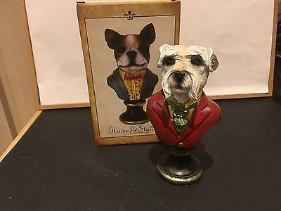 Dog Bust - Pug, Terrier And Others