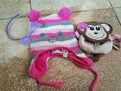 The childrens place, Lot of girls beanie hat purse and headband