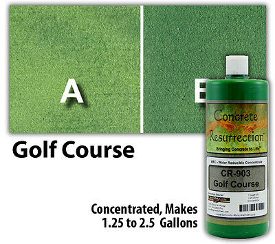 Professional Easy to Apply Water Based Concrete Stain Golf Course Green