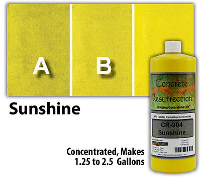 Professional Easy to Apply Water Based Concrete Stain - Sunshine