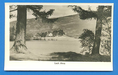 Loch Alvie.blank Back Real Photographic Postcard