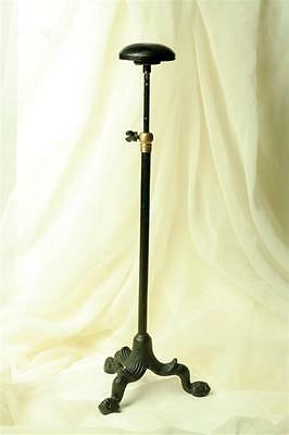 Industrial Antique Style Victorian Replica Iron Hat Wig Stand ,13'' to 21'' H