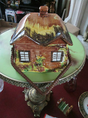 biscuit barrel in shape of a cottage- cottageware