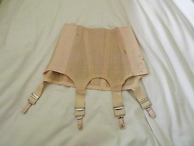1952 War Department Pink Corset Girdle Suspenders Stockings (2)