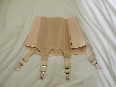 1952 War Department Pink Corset Girdle Suspenders Stockings(3)