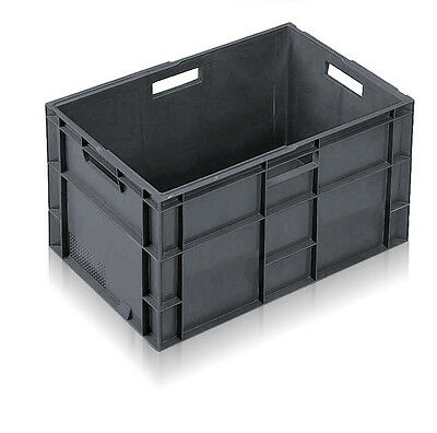 Allibert Euro Containers - Stacking Plastic Crate - Heavy Duty Storage Totes