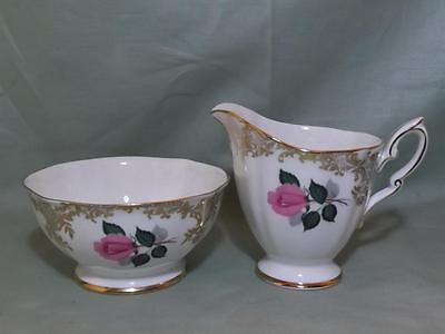 Royal Standard Pink Rose Bone China Milk Jug & Sugar Bowl Patt. 2190
