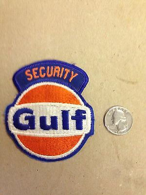 Vintage Gulf Gas Oil Security Embroidered Felt Patch
