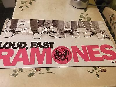 THE RAMONES 2002 LOUD FAST PROMO POSTER FLATS 24x12 2-sided