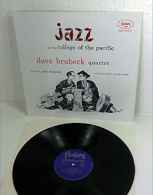 "DAVE BRUBECK ""Jazz At College Of The Pacific"" NM OJC 80s Fantasy re LP Jazz"