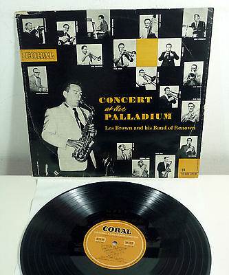 "LES BROWN - rare german 1953 CORAL Mono LP ""Concert at The Palladium"""