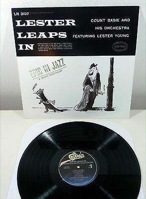 "COUNT BASIE & LESTER YOUNG ""Lester Leaps In"" USA 180gr MONO Epic re LP"
