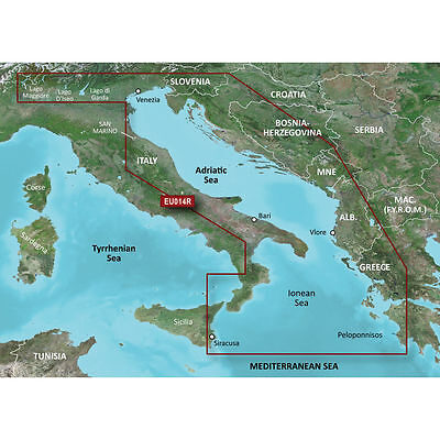 BlueChart g2 Vision VEU014R - Italy, Adriatic Sea micro/SD card