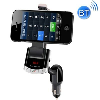 TECH Black BT8118 Car Bluetooth FM Transmitter with Holder Function & Remote Co