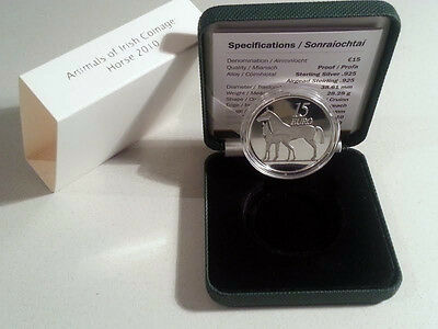 Ireland 2010 €15 Animals of Irish Coinage Series Horse Silver Proof Coin