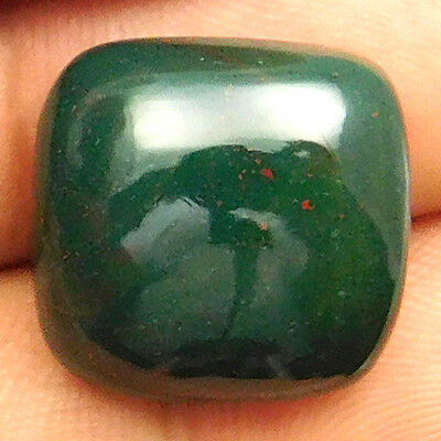 17.40 cts Natural Bloodstone Gemstone Cushion Shape Loose Cabochon For Jewelry