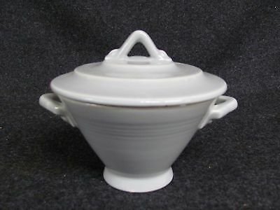 Vintage HARLEQUIN Grey Sugar Bowl with Lid (AB771)