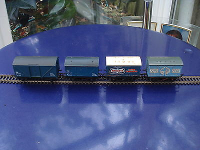 Hornby & G&R Wrenn 00 gauge BR freight wagons and two fish wagons