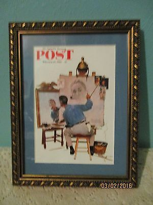 framed Norman Rockwell picture/print