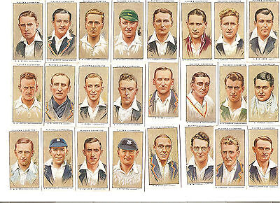Complete sets of John Player 1934 Cricketers