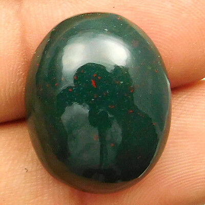 22.10 cts Natural Nice Untreated Bloodstone Gemstone Oval Shape Loose Cabochon