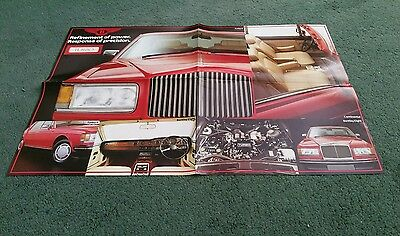 1985 Bentley Eight Mulsanne Turbo R Continental - Uk Folder Poster Brochure