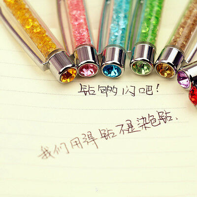 School Diamond ballpoint Stationery Pen Touch Screen Crystal Pens Gift  New