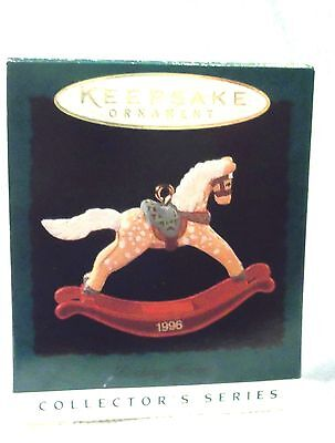 Hallmark 1996 Rocking Horse Miniature Christmas Ornament 9th Series NEW