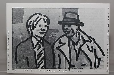 JOSEPH BEUYS and ANDY WARHOL by C.O.PAEFFGEN rare Art-Postcard  NEW