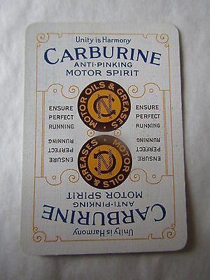 RARE SINGLE / SWAP Playing Card CARBURINE M. SPIRIT   Vgc Motoring, Petrol ,Oil