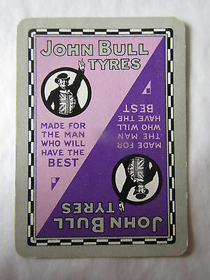 RARE SINGLE / SWAP Playing Card JOHN BULL TYRES (1)   Vgc Motoring, Petrol ,Oil